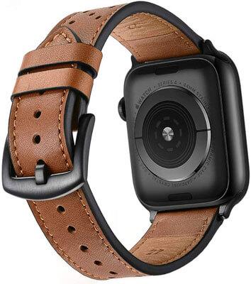 pulsera de cuero para apple watch grande