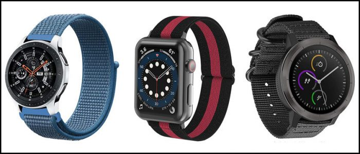correas de nylon para smartwatch